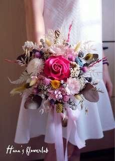 Preserved Flower Hand Bouquet  (Wedding/ ROM/ Solemnisation/ Proposal/ Anniversary/ Graduation/ Birthday)