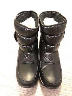 全新兒童女童滑雪靴黑色