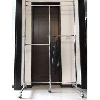 外銷日本 🇯🇵 掛衣桿 吊衣架hanger 高度條整+輪子移動