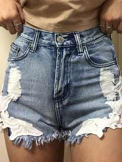 Super high waisted XS denim shorts
