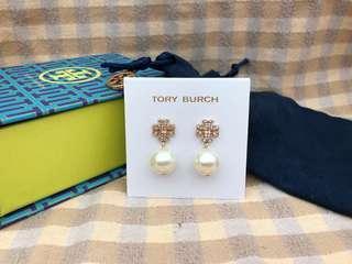 Tory Burch閃石珍珠耳環