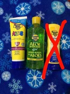 Banana Boat Set (Kids Sunscreen Lotion and Aloe After Sun Gel)
