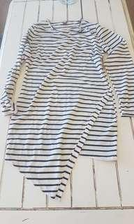 Asymmetric dress sz 10