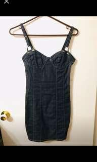 Bnwot guess jean corset dress