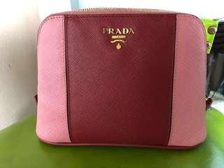 Authentic PRADA MILANO saffiano leather bag clutch