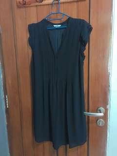 Dress navy busui & bumil friendly