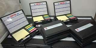 Memo pad customized for your corporate give away