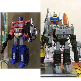 Transformers Siege : Optimus Prime and Megatron bib
