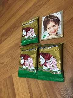Herbal Henna for hair dye and hand draw
