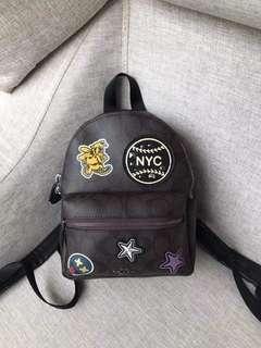 👜 Coach Varsity Patches Mini Charlie BP👜
