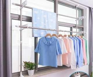 Extendable Laundry Pole stainless steel heavy duty