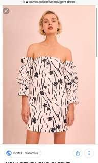 BNWT C/MEO Collective Black and White Floral Dress
