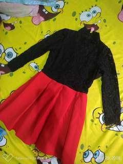 Black Red Lace Dress