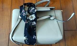 🚚 TASHUO復古手提包.絲巾(單肩斜跨包)