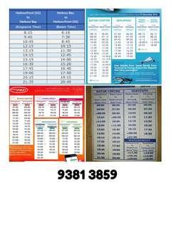 Batam Ferry Ticket All Tax Included