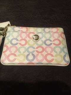 COACH Waverly Pop Art Signature Wristlet