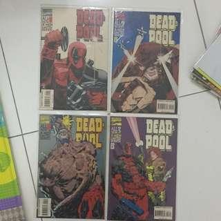 Deadpool (1994) Miniseries #1-#4 Marvel Comics Set Ian Churchill Mark Waid Script