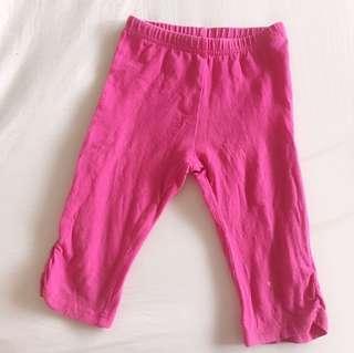 女童棉質彈性五分褲 105cm粉紅色二手
