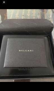 Genuine Bvlgari Leather Wallet Black