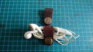 DIY真皮耳phone線/USB線收納扣