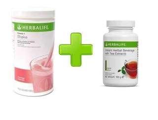 Herbalife F1 + Tea mix + Shaker bottle