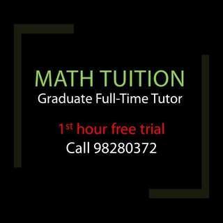 (Jurong/Bishan) Math Tuition for Secondary, JC, IGCSE, IB
