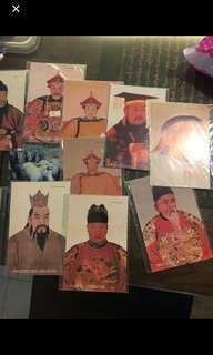 Postcards Chinese Emperors