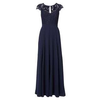 Review Aster Navy Maxi Formal Dress