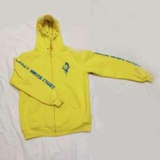 carzybomb 黃色加絨棒球外套