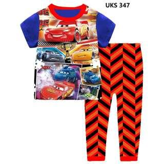 Car 95 red Neckline Short Sleeve Pyjamas for 2 to 7 yrs old