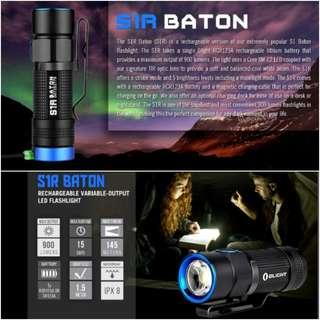 (Free Delivery_900 Lumens) Olight S1R Baton Rechargeable LED Flashlight_Magnetic Tail