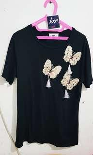 Black butterfly top 45K