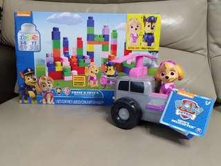 狗狗巡邏隊 Paw Patrol Chase & Skye's Build & Play Block Set Lego