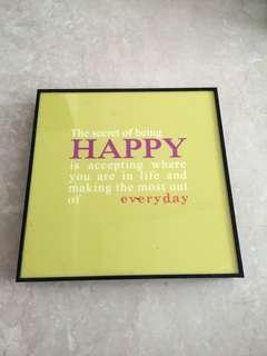 Happy quote deco