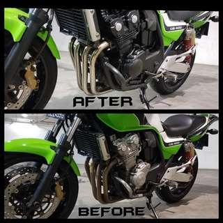 CB400 REVO Engine Spraying / Header Polishing