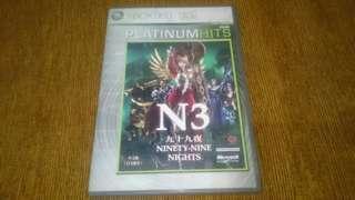Xbox 360 Ninety Nine Nights N3 99 DVD GAME