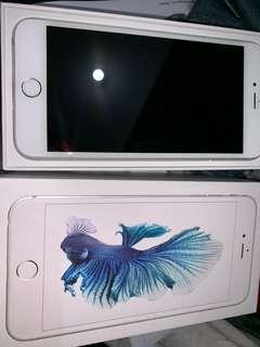 iPhone 6s Plus 128G 銀色 ,9成新 , 功能正常 連原裝盒,原裝充電線