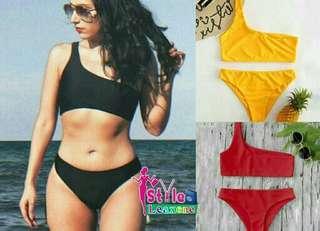Roco One Shoulder Bikini Set