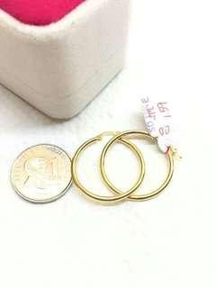 18k pawnable gold loop earrings