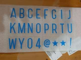 Alphabet plate utk led box