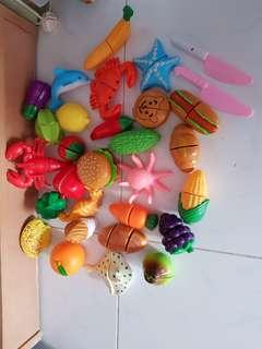 Baby Fruit / Seafood cutting Toys