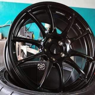 "AdvanRacing 18"" Matt Black (REP) Good to clear BBK!"