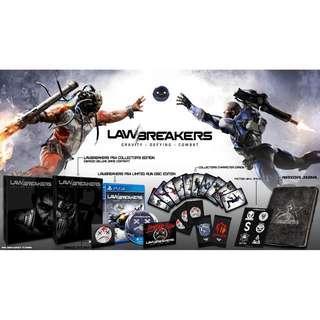 全新 LawBreakers Collector's Edition PS4 Limited Run