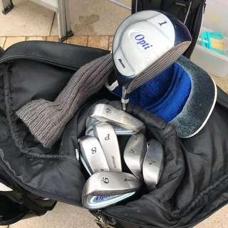 Mizuno Opti golf set with bag