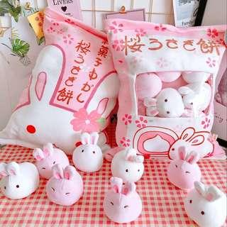 🚚 Cute Lovely pillow included 8 pcs soft toy