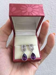Original Vaneesa Purple Swarovski Crystal Earrings