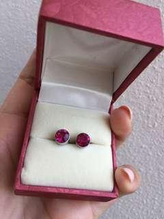 Original Vaneesa Pink Swarovski Crystal Studs