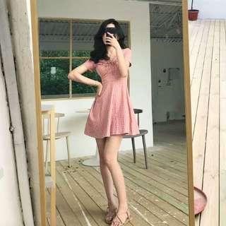 BNWT Pink gingham dress
