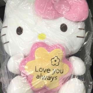 Hello kitty 16寸大毛公仔 love