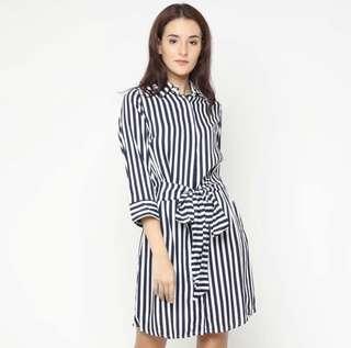 Forever21 Stripped Belt Dress
